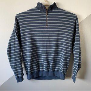 Tommy Bahama XL 1/4 Zip Waffle Knit Sweater Cotton